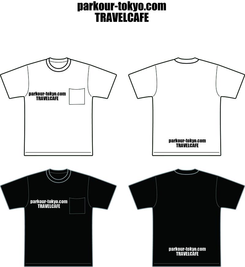 トラベルカフェTシャツ パルクール東京 コラボレーションTシャツ